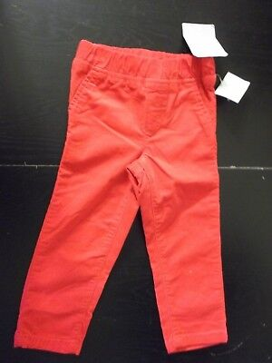 Infant Baby Carter's Red Corduroy Long Pant sz 24 mo,