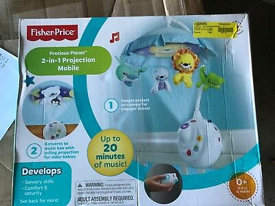 79c04e99dd9a6 FISHER-PRICE PRECIOUS PLANET 2-in-1 Projection Mobile - New -  42.00 ...