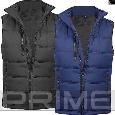 Mens Padded Gilet Vest Body Warmer WaistCoat Quilted Work Carlton Work Winter