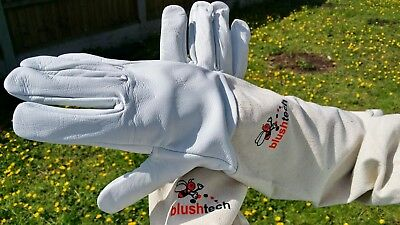 Beekeeper Bee Gloves Beekeeping gloves Cow hide leather & Cotton Zean  X-LARGE
