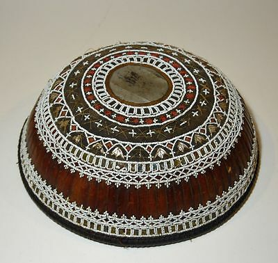 Beautiful & Rare Antique Basketry covering for food offering from Bali (2)