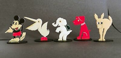 DISNEY VINTAGE game pieces. Five (5) RARE pieces/characters!