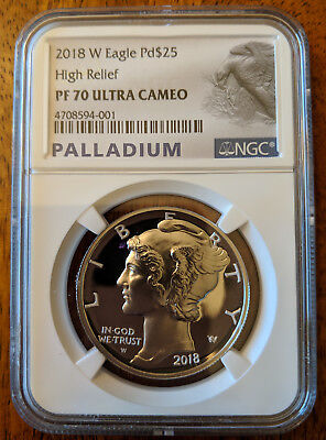 2018 W Palladium $25 American Eagle NGC PF70 ULTRA CAMEO Pd$25 IN-HAND!