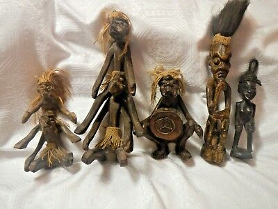 Antique African Tribal Wooden Art Statues Figurines (5)