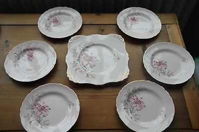 Royal Tuscan pink orchids cake set (7 pieces)
