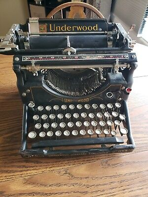 Antique 1926 Underwood NO.5 Standard Typewriter Manual No. 5 Heavy Made in USA