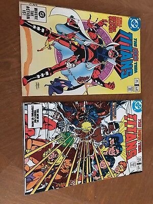 The New Teen Titans 1st Appearance Brother Blood/4 Appearance Deathstroke #22 34
