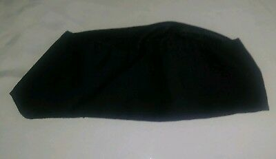 Pre Owned Black Chef Hat Mesh Adjustable Velcro One Size Fit Most