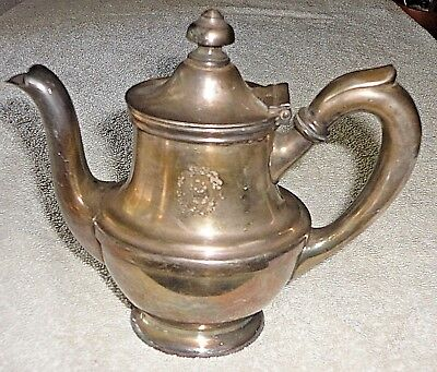 1946 Hotel Cleveland Union Terminal Teapot Coffee Pot R Wallace Silver Soldered