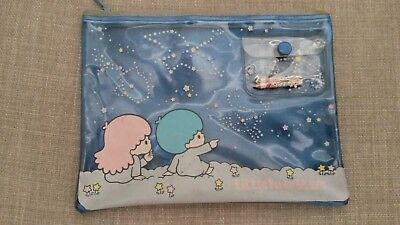 1976 Vintage Sanrio Little Twin Stars Pencil Case zip pouch Made in Japan