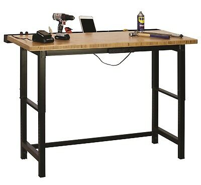 "Muscle Rack Bamboo Top Workbench, 36"" Height, 60"" width, 24"" Length"