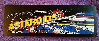 Asteroids arcade marquee sticker. 3 x 8.75. (Buy any 3 stickers, GET ONE FREE!)
