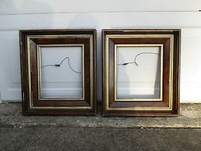Antique Matched Pair of Eastlake Deep Set Picture Frames w/Glass fit 10x12