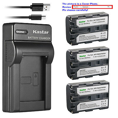 Kastar Battery Slim Charger for Sony NP-FM50 BC-VM50 & Sony Cyber-shot DSC-F707
