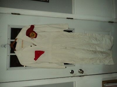 Vintage White Racing Coveralls Lee Hidy SCCA Central NY Syracuse Sewn Front Back