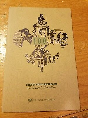BOY SCOUT HANDBOOK CENTENNIAL TIMELINE 100 YEARS OF SCOUTING - NEW Free Shipping