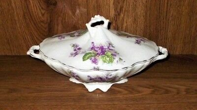 Globe China Gpco (1888-1912) Semi- Porcelain Covered Serving Bowl 11 1/2""