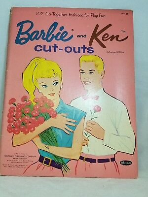 Vintage 1962 Barbie And Ken Cut - Outs Paper Dolls