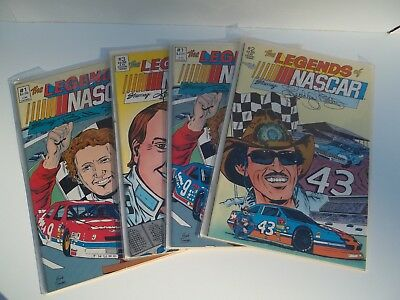 The Legends Of Nascar 4 Comic Books Including Richard Petty New