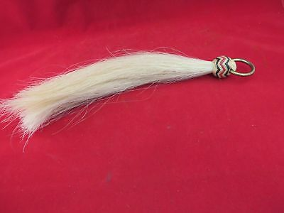 Extra Long Shoo Fly, Blond With Multi Colored Rawhide Turks Knot