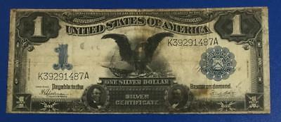 """1899 $1 Blue """"BLACK EAGLE"""" SILVER Certificate """"LARGE SIZE"""" Currency VG $110 VG!"""