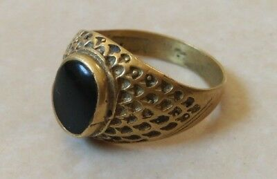 ancient antique roman legionary ring bronze artifact rare type
