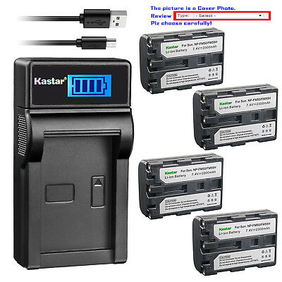 Kastar Battery LCD Charger for Sony NP-FM50 BC-VM50 & Sony Cyber-shot DSC-F707
