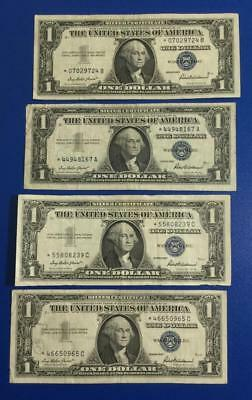 1957-1957B $1 Blue SILVER Certificates *** 4 STARs *** X724 Old US Currency