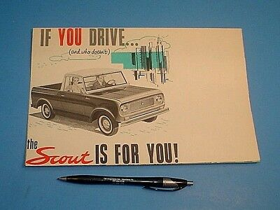 NICE 1960's INTERNATIONAL SCOUT FOLD-OUT BROCHURE