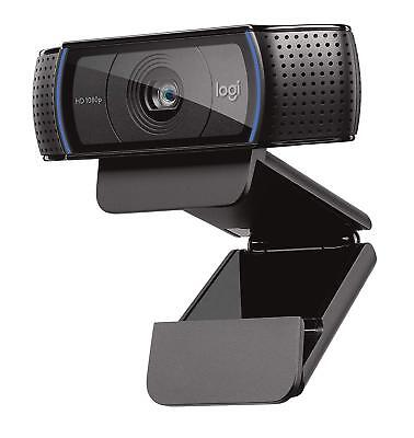 Logitech C920 HD Pro Webcam - Full HD Video Calling and Recording with Dual Mics