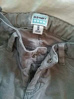 Old Navy 3T Girls Gray Corduroy pants