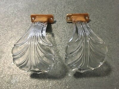 Pair Antique Glass Curtain Hold Tie Back Hooks Vintage