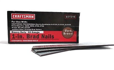 "Craftsman 18 Gauge Heavy Duty 1"" Brad Nails 27215"