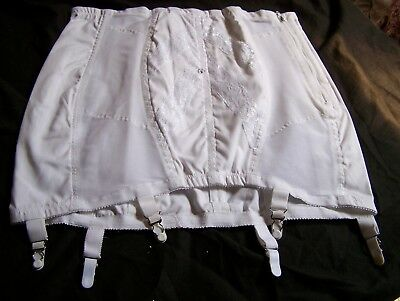 Vintage Nos Rago Of New York~Open Bottom Girdle Corset Garters Style #463 Xl/32