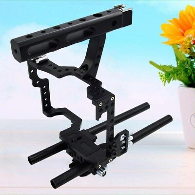 1 Pc Aluminum Camera Video Stabilizer Cage with Handle Grip for A7 A6000 GH4 A7S