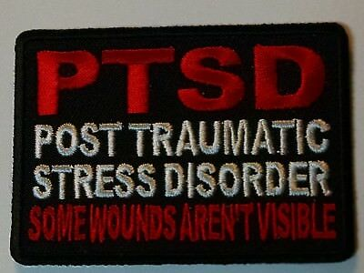 PTSD Some Wounds Are Not Visible Embroidered Biker Patch
