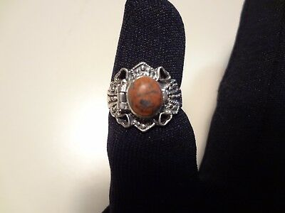 #411 Vintage Sterling Silver Poison Ring-4 Hearts-925-Size-6-Very Old