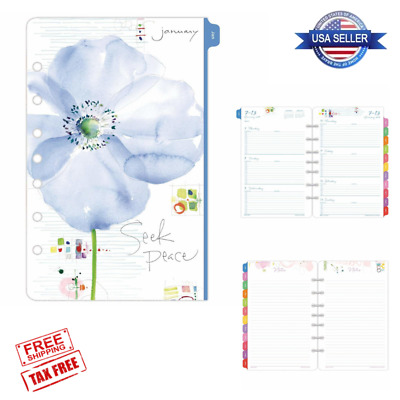 2019 January to December Tabbed Calendar Planner 12 Month Set Day Timer Refill