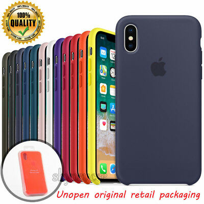 For iPhone 7 8 6 10 X XR XS Max Genuine Original Silicone Luxury Case OEM Cover