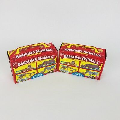 Nabisco Barnums Animal Crackers Box Cage Background Barnum's Lot 2 Discontinued