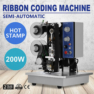 Semi-Automatic Electric Coder Hot Stamp Ribbon Coding Printer Machine Adjustable