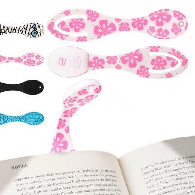 Book Light for Reading in Bed - Clip on LED Reading Light & Bookmark - Batteries