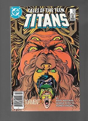 Tales of the Teen Titans #63 (Mar, 1986) Nightwing APP George Perez GD/VG 3.0