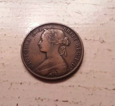1861 Canada Nova Scotia One Cent Coint - KM# 8.2