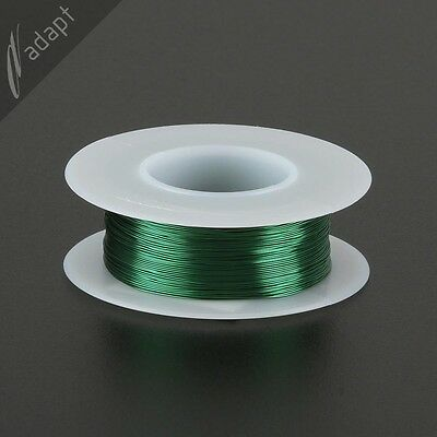 29 AWG Gauge Magnet Wire Green 313' 155C Solderable Enameled Copper Coil Winding