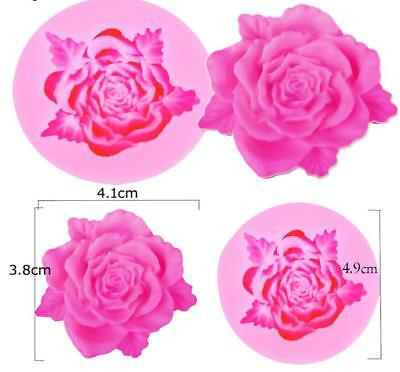 3D Rose with Leaf Flower Chocolate Candy Mold from CK #13116