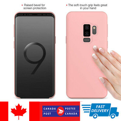 For Samsung Galaxy S9 S8 Plus Genuine Silicone Soft Liquid Luxury Case Cover