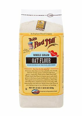 Bob's Red Mill Whole Grain Oat Flour, 22 Ounce (Pack of 4)