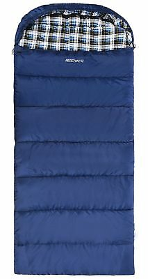 REDCAMP Cotton Flannel Sleeping Bag Adults, 23/32F Comfortable, Envelope
