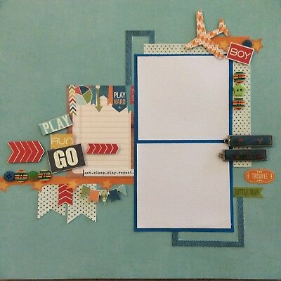 handmade scrapbook page 12 X 12 Play Layout